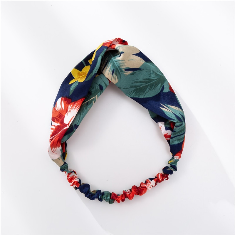 Mode femmes filles été bohème bandes de cheveux imprimer bandeaux Vintage croix Turban bandeau Bandanas bandeaux accessoires de cheveux