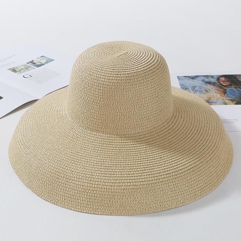 Chapeaux de soleil pour femmes | Uni, élégant, chapeau à large bord, chapeau de plage en paille souple, pour femmes, HT2303, nouvelle collection été 2019