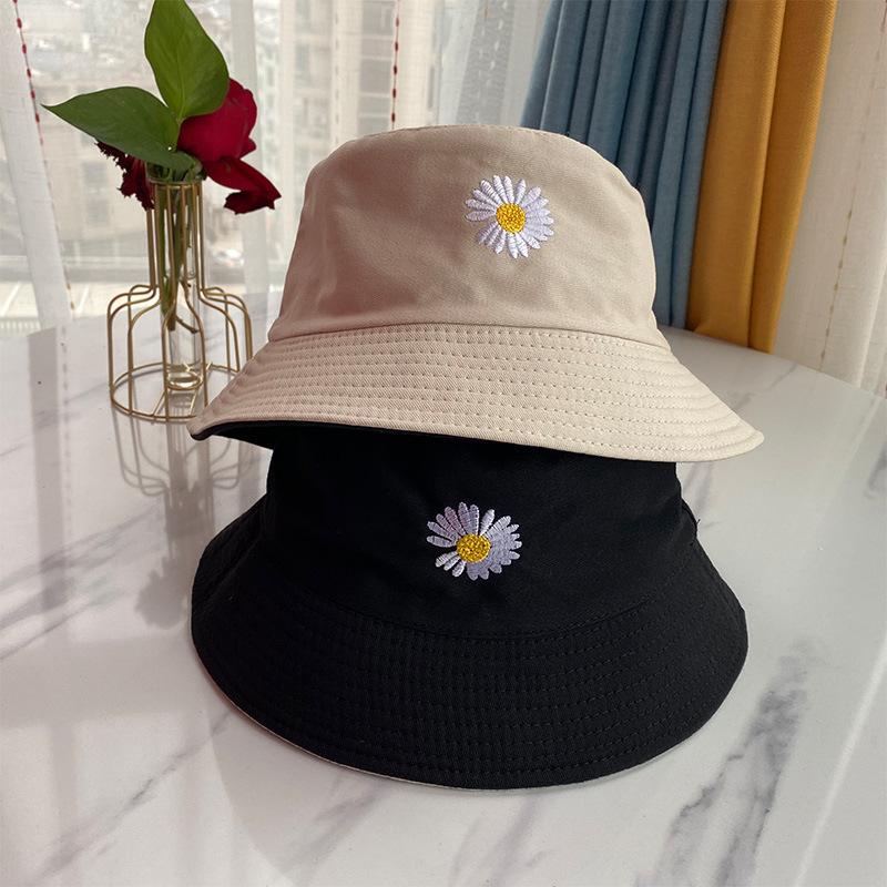 Chapeau en coton pour femmes et hommes | Chapeau en forme de marguerite, chapeau à la mode, casquette pour garçon triste et fille, chapeau à fleurs Double face daisy Bob Sun, Panama