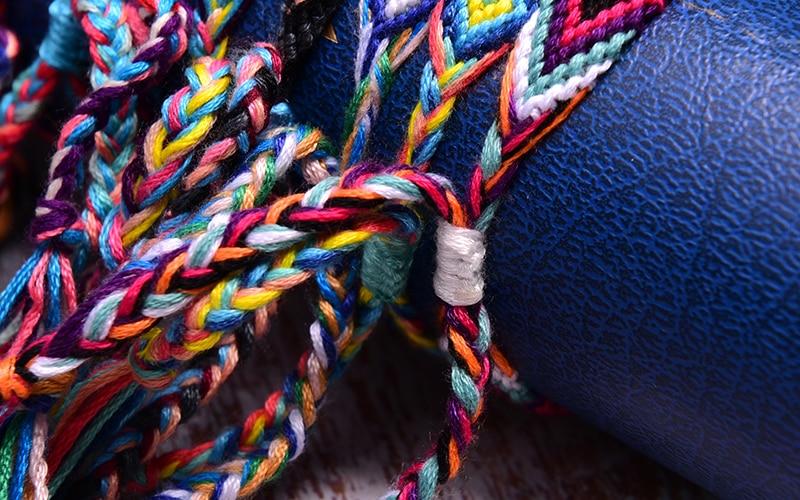 Lune fille 15 pièces tissé amitié Bracelets tressé mode branché Surf plage Chic Boho fille Pulseras Femme livraison directe