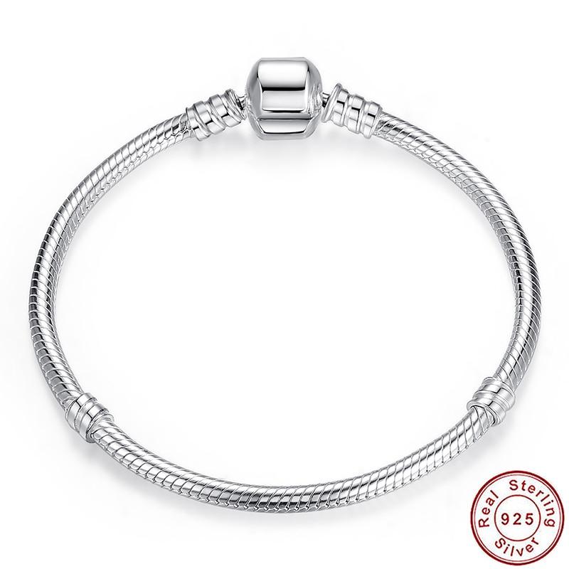 BAMOER TOP vente authentique 100% 925 argent Sterling serpent chaîne Bracelet & Bracelet pour femmes bijoux de luxe 17-20CM PAS902