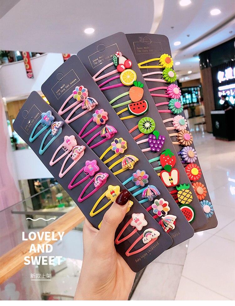 Barrettes animaux de dessin animé pour filles 5 cm | 10/15 pièces/ensemble, jolis épingles à cheveux, pinces à cheveux, bandeau, accessoires pour cheveux