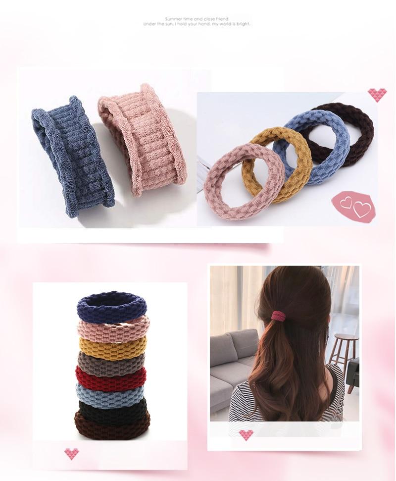 Bandes de caoutchouc élastiques simples femmes filles | 10 pièces, Scrunchie, bandeau de mode, accessoires cheveux