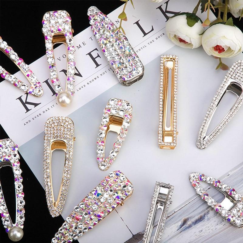 Coréen cristal épingles à cheveux femmes cheveux bijoux de mode Simulation perle or Barrettes Clips broches mariage mariée diadème accessoires