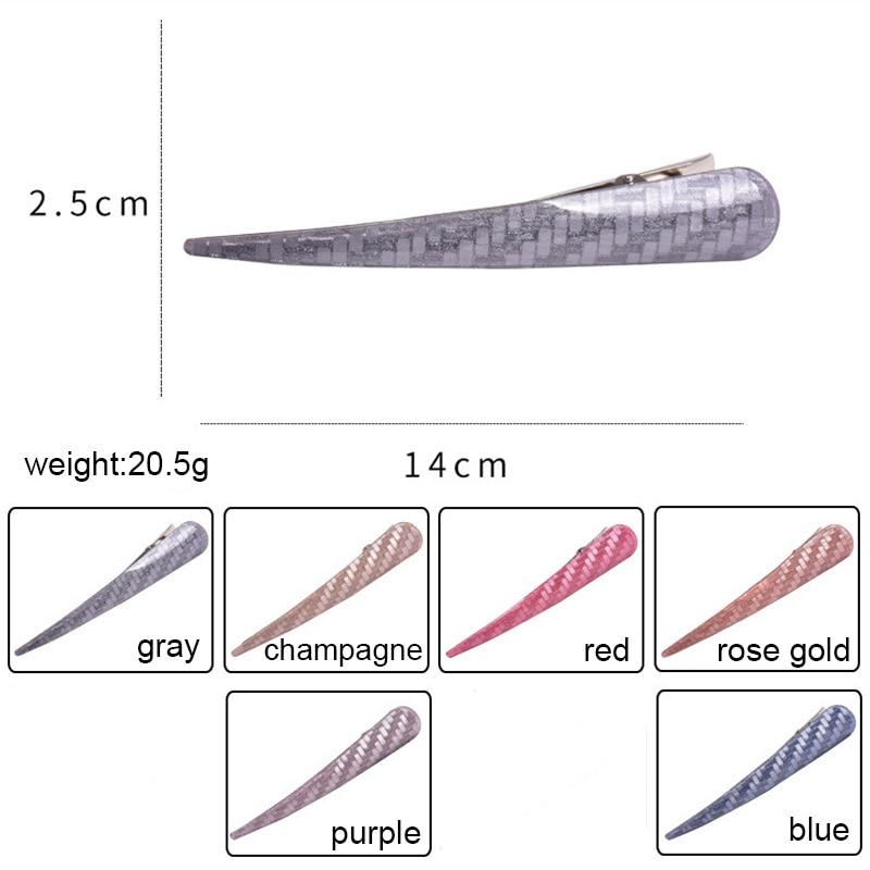 RE nouveau paillettes acrylique corne pinces à cheveux pince beauté style accessoires pour cheveux femmes filles longues épingles à cheveux Barrette pince à cheveux H35