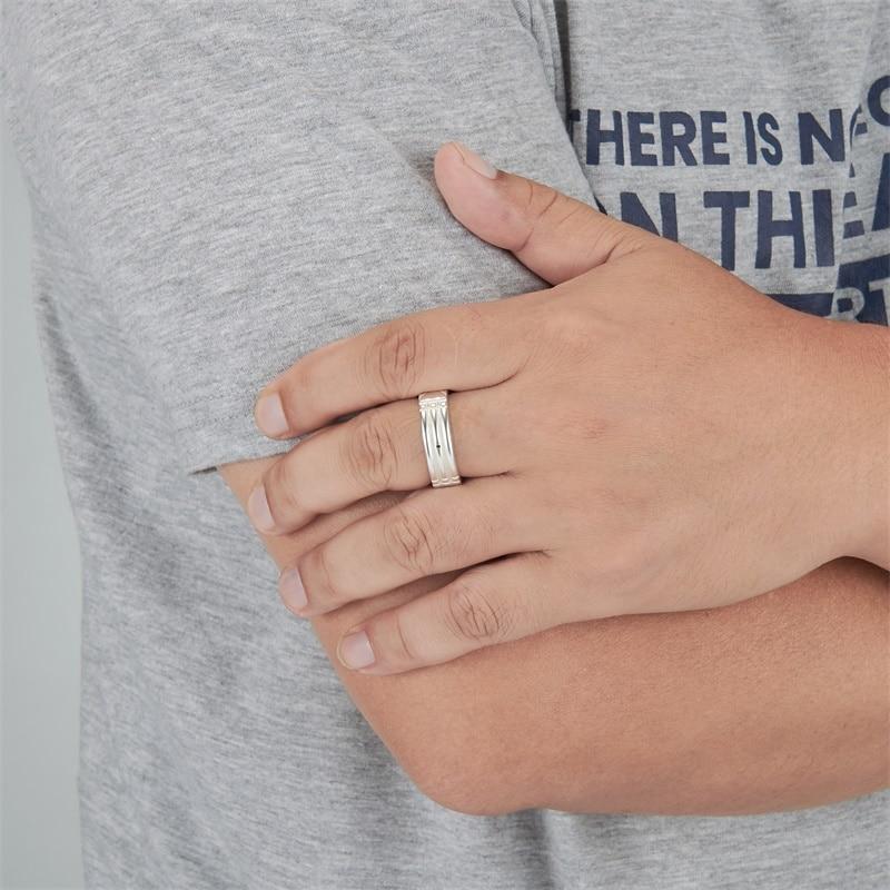 WAWFROK acier inoxydable à la mode hommes/femmes anneaux or/argent plaqué Atlantis anneaux pour femmes/hommes fiançailles/bague de mariage bijoux