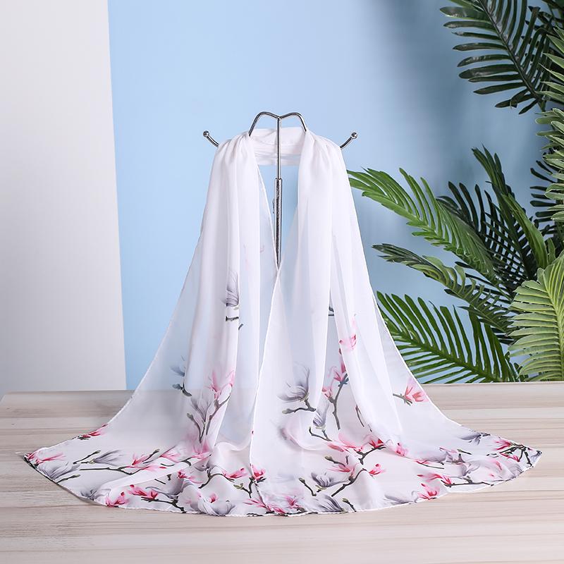 Foulard en mousseline de soie femme