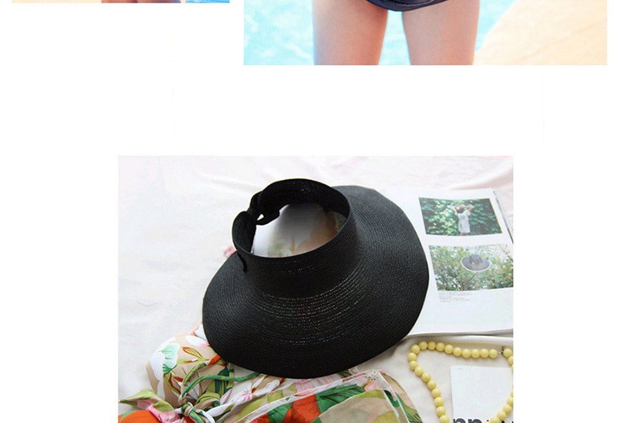 LaMaxPa chapeau de plage en paille | Visière d'été pour femmes, chapeau de soleil pliable, chapeaux de plage à Large bord, chapeau de paille, casquette de Protection UV pour la plage