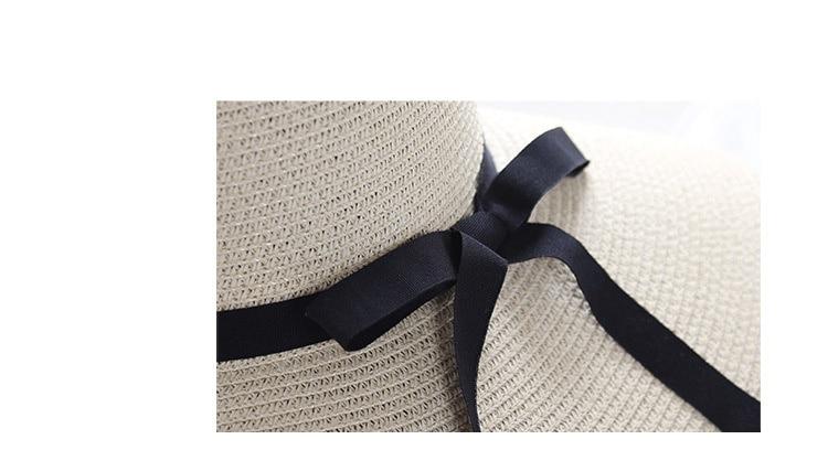 Chapeau de plage à large bord pour femmes | Chapeau de paille d'été, chapeau de plage, bloc de soleil pliable, protection UV, chapeau panama