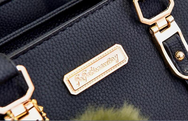 Yogodlns femmes perles pendentif sac à main dames en relief sac à bandoulière dames sac de messager hairball sacs de haute qualité sac