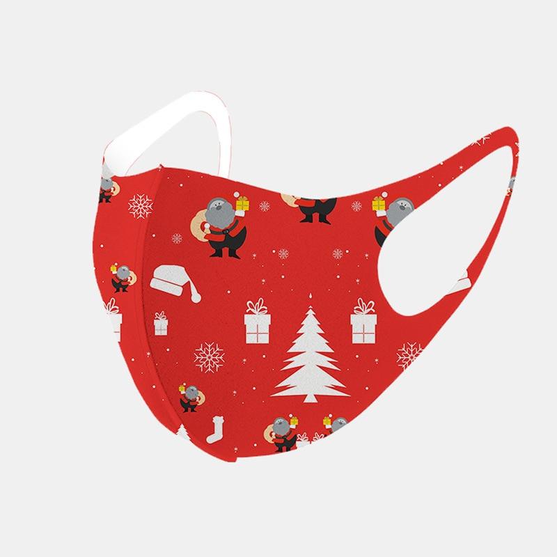 Masques imprimés anti-poussière pour décorations de noël, masques faciaux respirants multi-usages, décoration de noël, fournitures de fête Noel