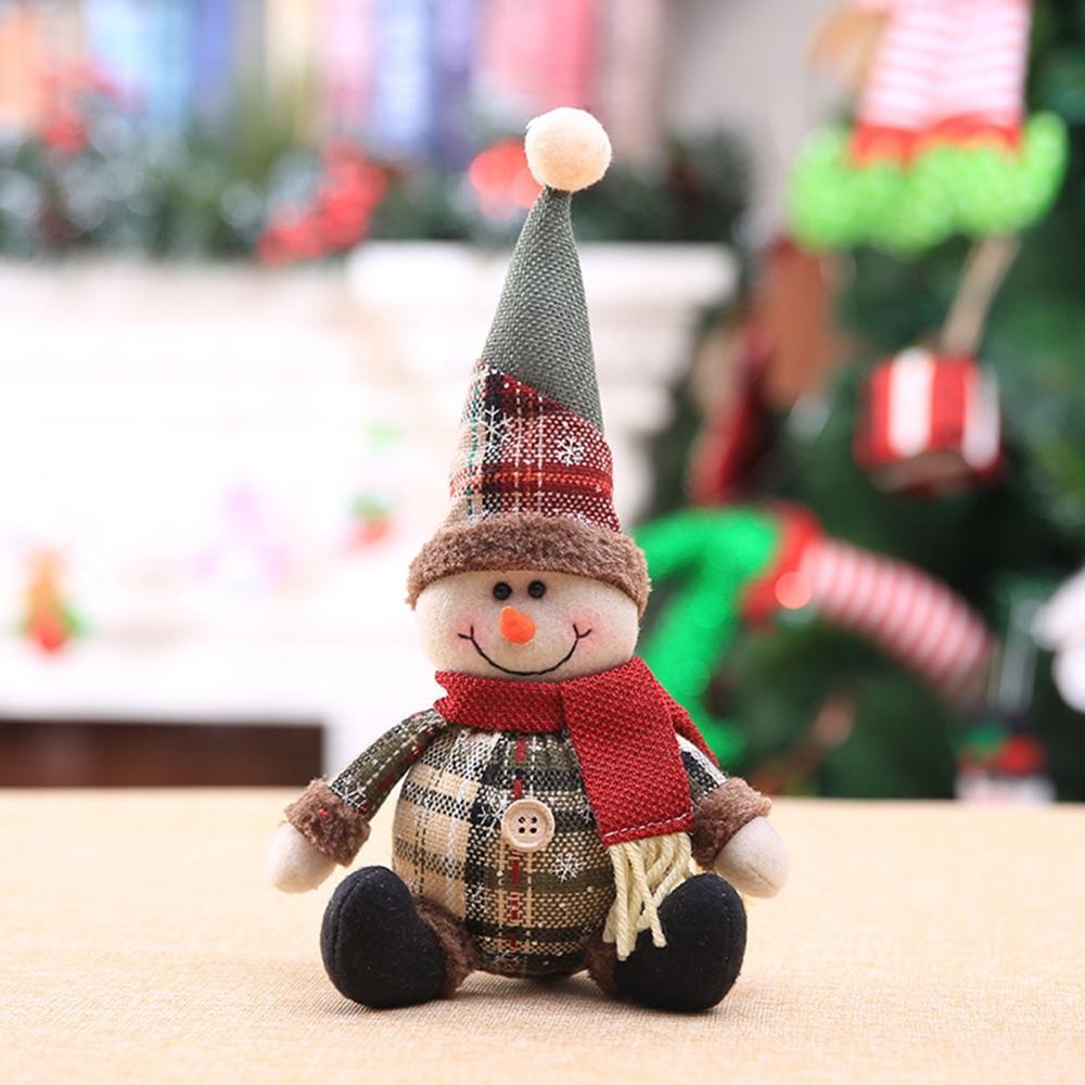 Bonhomme de neige poupée joyeux noël décor pour la maison Table 2020 poupée noël ornements père noël wapiti Navidad cadeau bonne année 2021