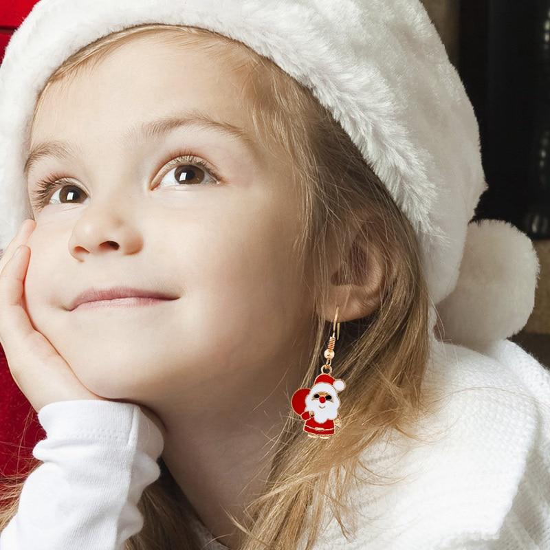 Pendentifs de boucles d'oreilles joyeux noël   Ornements cadeaux de noël, décor de noël pour maison, cadeau de nouvel an 2020