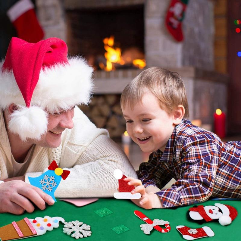 3D bricolage conique feutre noël enfants cadeau noël décor noël ornements de noël décorations de noël pour la maison nouvel an déco Noel