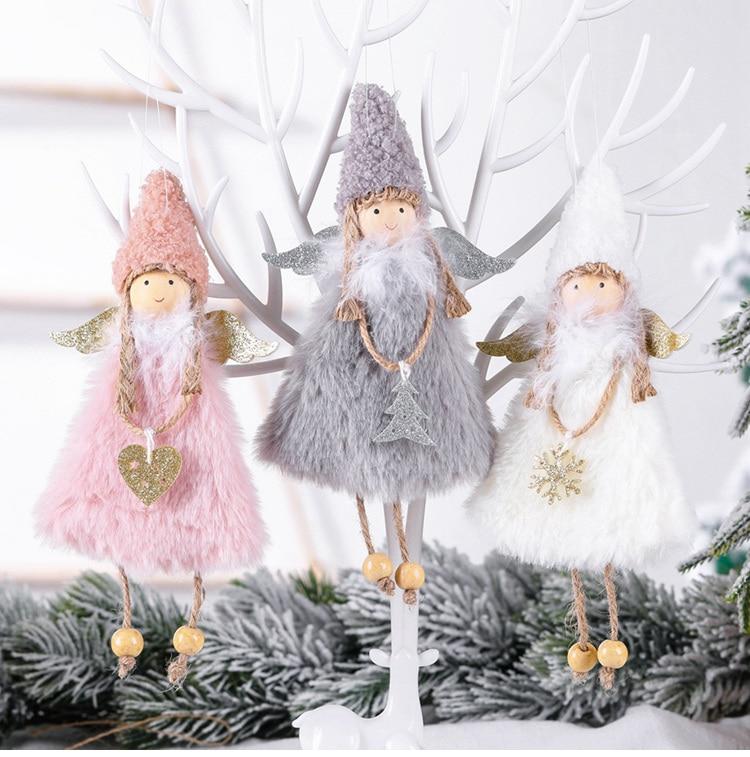Poupée ange pour les fêtes, décorations pour la maison, guirlande, pour arbre de de Noël, nouvel an, 2020, 2021