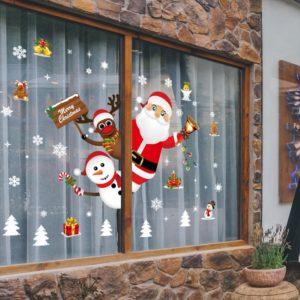 Stickers de noël muraux fenêtre